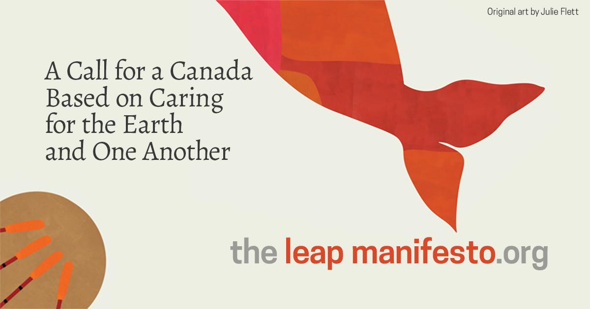 Resultado de imagen para naomi klein The Leap Manifesto